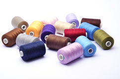 Colored bunch of sewing rolls royalty free stock image