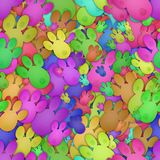 Colored bunny tracks (Seamless texture) Royalty Free Stock Photo