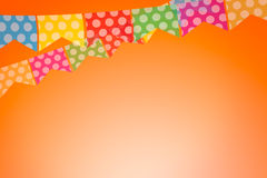 Colored bunting for June Brazilian Festival Royalty Free Stock Photo
