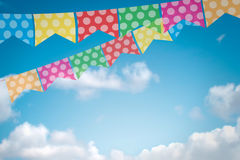 Colored bunting for June Brazilian Festival Stock Photography