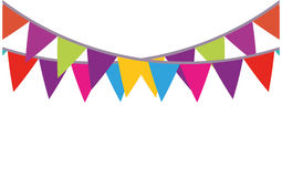 Colored bunting party decoration festive Royalty Free Stock Images