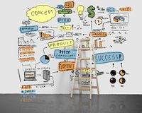 Colored business concept Stock Photography