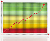 Colored business graph Stock Photos