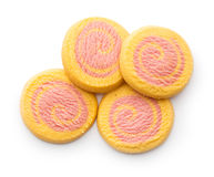 Colored butter biscuits Royalty Free Stock Photography