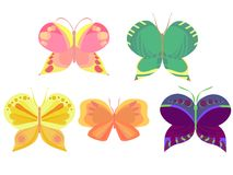 Colored butterflies Royalty Free Stock Photo