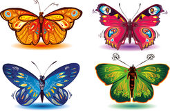 Colored butterflies vector illustration