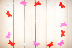 Colored butterflies out of paper Stock Image