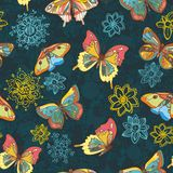 Colored butterflies texture Royalty Free Stock Photo