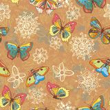 Colored butterflies texture Royalty Free Stock Photos