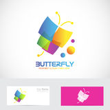 Colored butterfly logo Stock Images