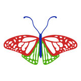 Colored butterfly logo royalty free illustration