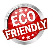 Button Eco friendly Royalty Free Stock Image
