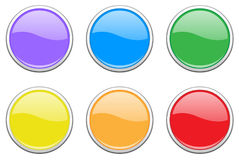 Colored Button Set royalty free stock photography