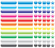 Colored buttons. Set of colored buttons, illustration Stock Photos