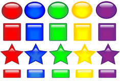 Colored buttons Royalty Free Stock Photography