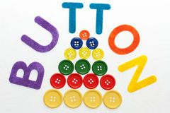 Colored buttons Royalty Free Stock Images