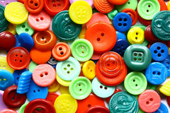 Colored buttons. Different shapes, colored buttons - Clothing Accessories Royalty Free Stock Image