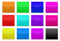 Colored buttons. For web design Royalty Free Stock Photography