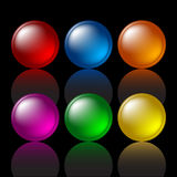 Colored buttons. Web design elements, illustration Stock Photo