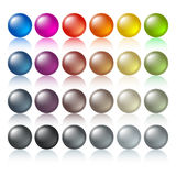 Colored buttons. Web design elements, illustration Stock Photos