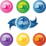 Colored buttons with arrows Stock Image