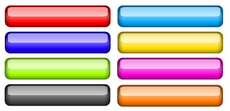 Colored buttons collection, glass Royalty Free Stock Images