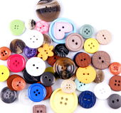 Colored buttons. Detail of colored buttons on white background Royalty Free Stock Photography