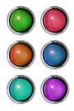 Colored buttons front view royalty free illustration