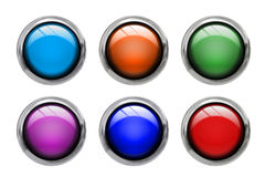 Colored buttons front view vector illustration