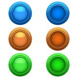 Colored buttons set Stock Photo