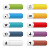 Colored Buttons. Set of colored buttons with icons Royalty Free Stock Photos
