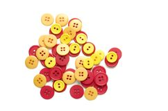 Colored Buttons for Sewing Stock Images