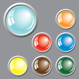 Colored buttons. Vector. Royalty Free Stock Photography