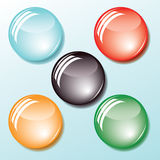 Colored buttons. Vector. Royalty Free Stock Photo