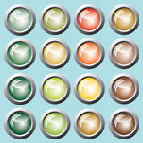 Colored buttons. Vector. Colored buttons green, yellow, red, brown. Vector Stock Image