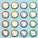 Colored buttons. Vector. Colored buttons green, yellow, red, brown. Vector Stock Photos