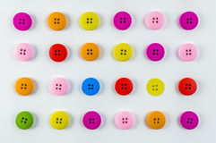 Colored buttons. On white background Royalty Free Stock Photos