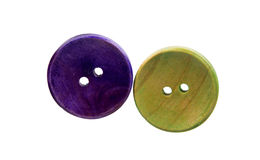 Colored buttons on white background Royalty Free Stock Photos