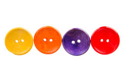 Colored buttons on white background Stock Images