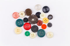Colored buttons on white background Stock Photos