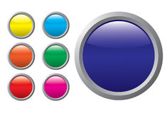 Colored buttons on a white background Royalty Free Stock Image