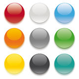 9 Colored Buttons Stock Images