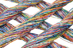 Colored cables Stock Photography