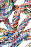 Colored cables Royalty Free Stock Photo