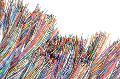 Colored cables Royalty Free Stock Image