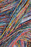 Colored cables in the global networks Stock Photos