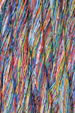Colored cables in the global networks Royalty Free Stock Image