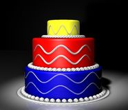 Colored cake Royalty Free Stock Photography