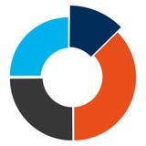 Colored cake diagram. Illustration flat style design Stock Images