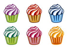Colored cakes Royalty Free Stock Images